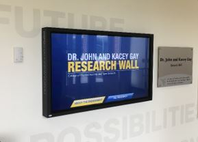 WVU Research Wall Screen
