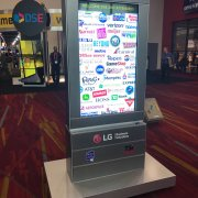 LG 55XE3C with Infrared Touch Overlay in Boyd Sign Systems Kiosk - DSE Welcoming Lobby