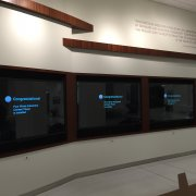 "St. Jude Hospital: Three 90"" Sharps with Interactive Touch"