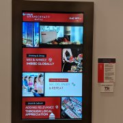 LG 55UH5C-B Display with Projected Capacitive Touch Overlay on Peerless Mount