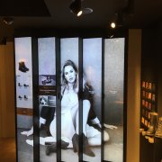 Frye Boots: 5W x 1H Projected Capacitive Touch Video Wall - LG 86BH5C Displays 2