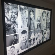 Columbus Children's Hospital: 3W x 1H Portrait Interactive Video Wall